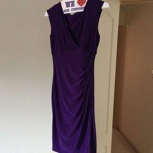 Purple stretchy Ralph Lauren dress size 6